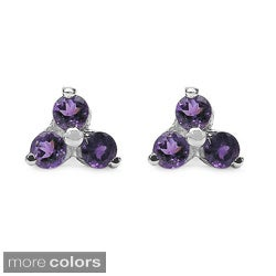 Malaika Sterling Silver Gemstone Stud Earrings