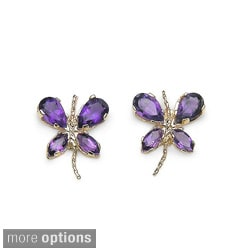 Malaika Gemstone Butterfly Earrings