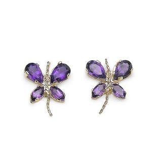 Malaika Gemstone Butterfly Earrings