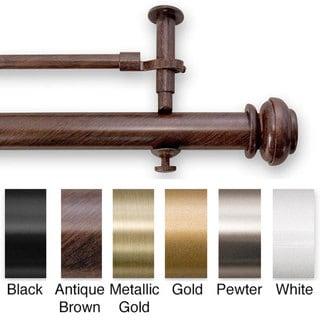 Bold Pole 28 to 48-inch Adjustable Double Window Rod Set
