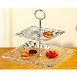 Crystal Clear Alexandria 2-tier Crystal Server