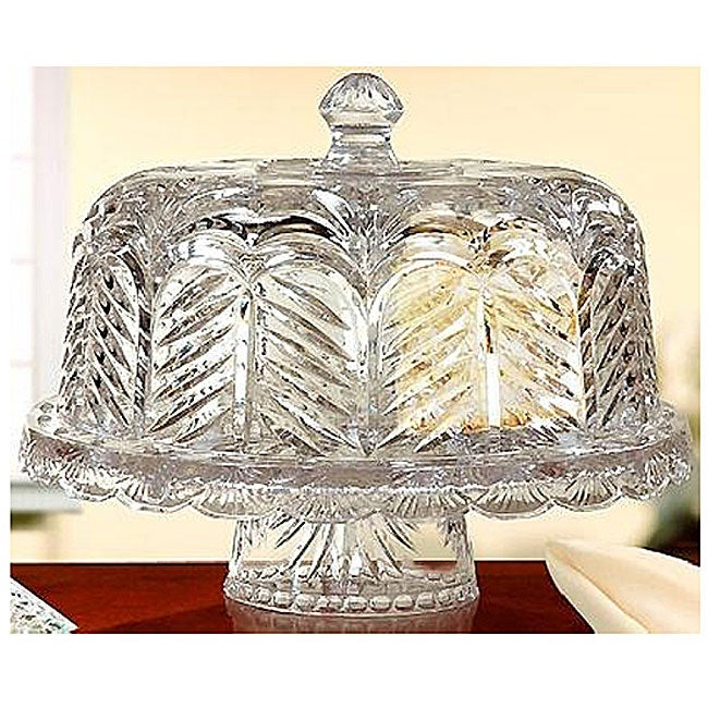 Fifth Avenue Crystal Portico Chip-n-dip/ Domed Cake Plate