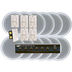 Pyle 6-room In-ceiling Speaker System
