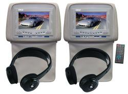 Pyle DVD Player/ 7-inch Tan Headrest Monitors (Set of 2)