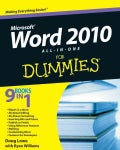 Word 2010 All-in-One For Dummies (Paperback)