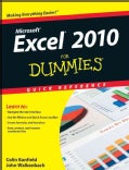 Excel 2010 For Dummies Quick Reference (Spiral bound)