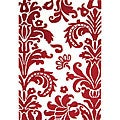 Alliyah Handmade Red New Zealand Blend Wool Rug(8 x 10')