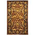 Safavieh Handmade Classic Jaipur Rust/ Black Wool Rug (4' x 6')
