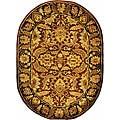 Handmade Classic Jaipur Rust/ Black Wool Rug (7'6 x 9'6 Oval)