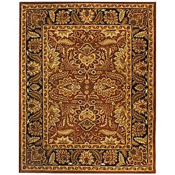Safavieh Handmade Classic Jaipur Rust/ Black Wool Rug (5' x 8')