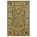 Safavieh Handmade Classic Jaipur Green/ Ivory Wool Rug (5' x 8')