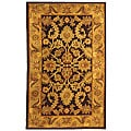 Handmade Classic Regal Dark Plum/ Gold Wool Runner (2'3 x 4')