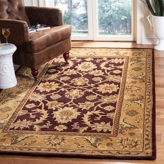 Safavieh Handmade Classic Regal Dark Plum/ Gold Wool Rug (5' x 8')