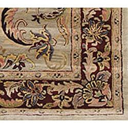 Safavieh Handmade Bukan Light Green Wool Rug (7'6 x 9'6)