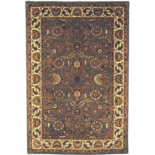 Safavieh Handmade Classic Heirloom Light Blue Wool Rug (7'6 x 9'6)