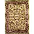 Handmade Amol Gold/ Red Wool Rug (5' x 8')