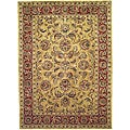 Handmade Amol Gold/ Red Wool Rug (8'3 x 11')
