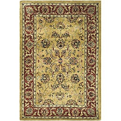 Safavieh Handmade Amol Gold/ Red Wool Rug (3' x 5')