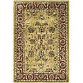 Handmade Amol Gold/ Red Wool Rug (3' x 5')