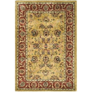 Safavieh Handmade Amol Gold/ Red Wool Rug (4' x 6')