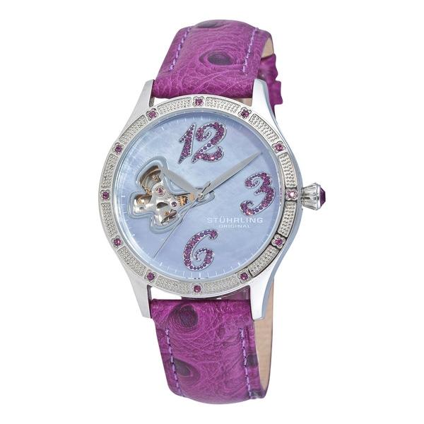 Stuhrling Original Women's Audrey Crystal Automatic Watch