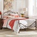 ETHAN HOME LeAnn Graceful Scroll Bronze Iron Queen-size Poster Bed