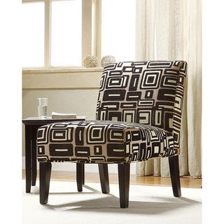 Tribecca Home Contemporary Grey and Black Print Lounge Chair