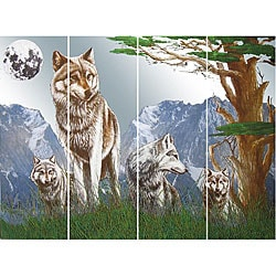 Wolf Pack Wall Mirror