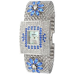 Peugeot Women's Blue Flower Watch
