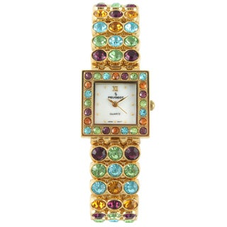Peugeot Women's Goldtone Multi-Color Bracelet Watch