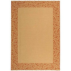 Safavieh Indoor/ Outdoor Natural/ Terracotta Rug (5'3 x 7'7)