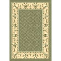 Safavieh Indoor/ Outdoor Royal Olive/ Natural Rug (4' x 5'7)