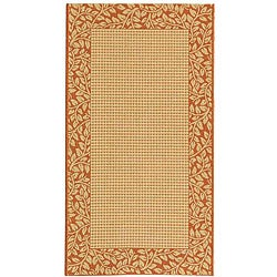 Safavieh Indoor/ Outdoor Natural/ Terracotta Rug (2'7 x 5')