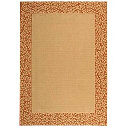 Safavieh Indoor/ Outdoor Natural/ Terracotta Rug (4' x 5'7)