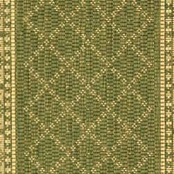 Safavieh Indoor/ Outdoor Royal Olive/ Natural Rug (2'7 x 5')