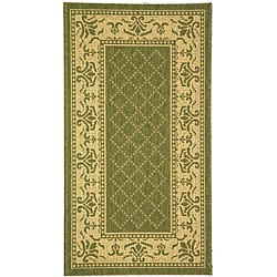 Indoor/ Outdoor Royal Olive/ Natural Rug (2'7 x 5')