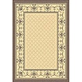Indoor/ Outdoor Royal Natural/ Brown Rug (4' x 5'7)