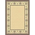 Indoor/ Outdoor Royal Natural/ Brown Rug (5'3 x 7'7)