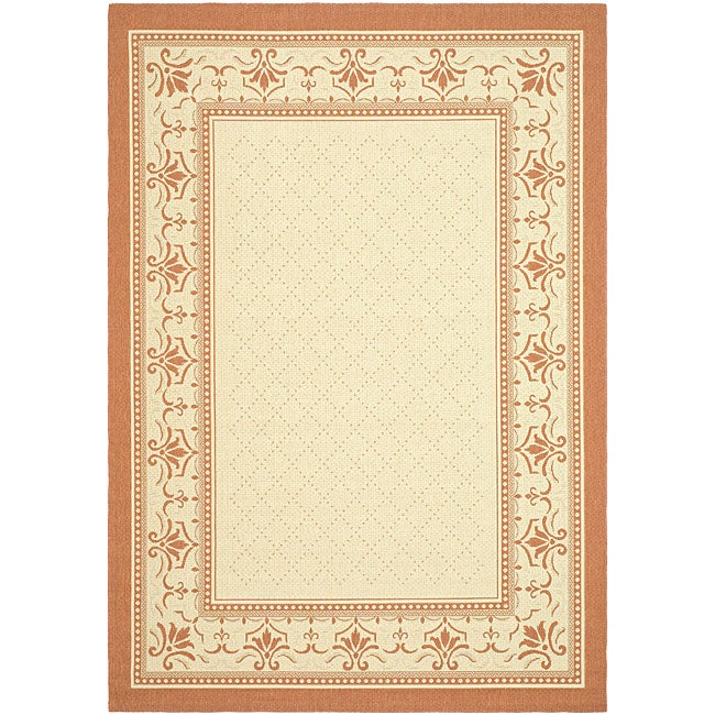 Safavieh Indoor/ Outdoor Royal Natural/ Terracotta Rug (9' x 12')