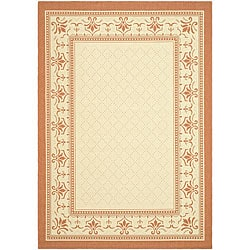 Indoor/ Outdoor Royal Natural/ Terracotta Rug (9' x 12')