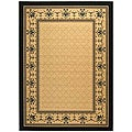 Indoor/ Outdoor Royal Sand/ Black Rug (5'3 x 7'7)