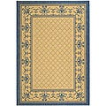 Indoor/ Outdoor Royal Natural/ Blue Rug (2'7 x 5')