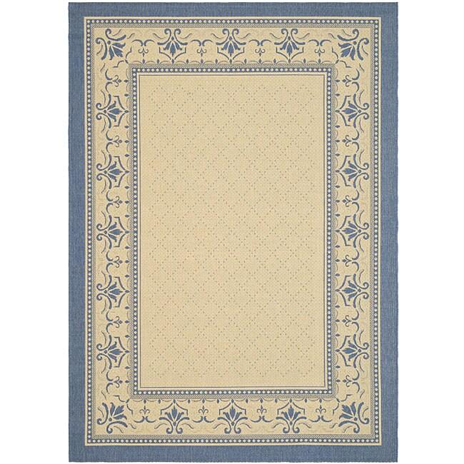 Safavieh Indoor/ Outdoor Royal Natural/ Blue Rug (5'3 x 7'7)