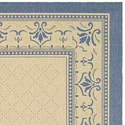 Indoor/ Outdoor Royal Natural/ Blue Rug (7'10 x 11')