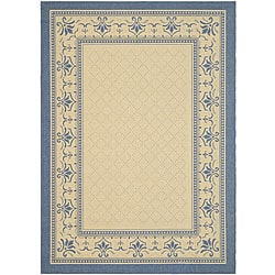 Indoor/ Outdoor Royal Natural/ Blue Rug (9' x 12')