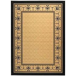 Safavieh Indoor/ Outdoor Royal Sand/ Black Rug (4' x 5'7)
