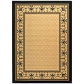 Indoor/ Outdoor Royal Sand/ Black Rug (6'7 x 9'6)