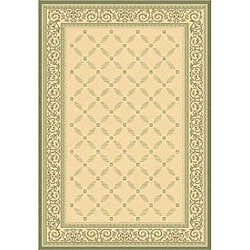 Safavieh Indoor/ Outdoor Bay Natural/ Olive Rug (7'10 x 11')