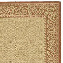 Safavieh Indoor/ Outdoor Bay Natural/ Terracotta Runner (2'4 x 6'7)