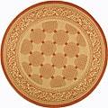 Indoor/ Outdoor Bay Natural/ Terracotta Rug (6'7 Round)